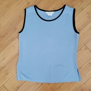 Exclusively Misook banded neckline tank size s